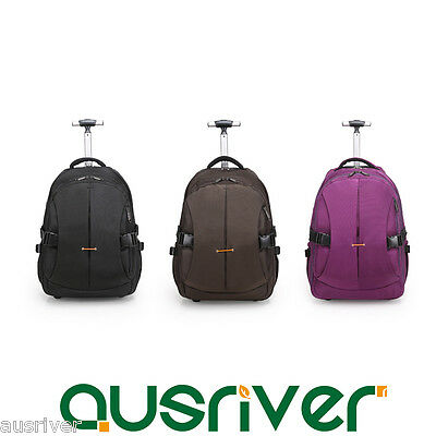 3Colours Lightweight Wheeled Luggage Backpack Carry On Travel Laptop Bag Trolley