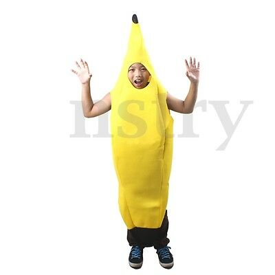 Banana Fruit Costume Fancy Dress Hen Stag Night Party Complete Outfit Halloween