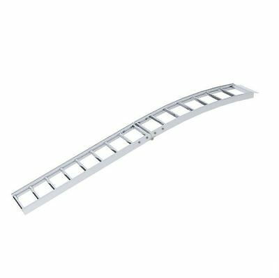 New 12 in. W x 90 in. L Aluminum Arched Center Fold Ramp Pair 1500 lb Capacity