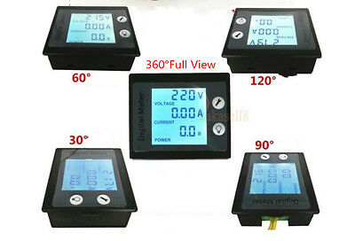 100A AC Power KWh Watt Meter Volt Amp Voltmeter Ammeter Open Close CT 110V 220V