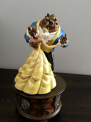 """AUTHENTIC DISNEY Beauty and The Beast Music Box Figurine """"Tale As Old As Time"""""""