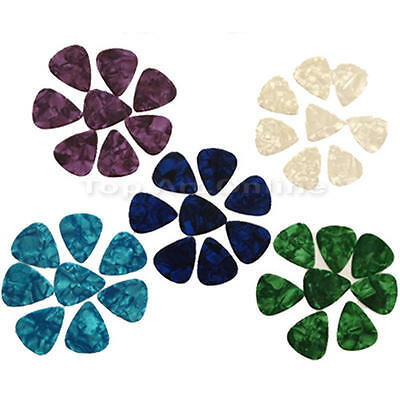30/100pcs Acoustic Electric Guitar Celluloid Picks Plectrums 0.71mm