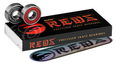 Bones Reds Scooter Bearings - Pack of 8  + Free Sticker
