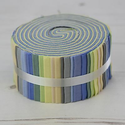 """Powder Shades 40 Jelly Roll Strips 100% Cotton Patchwork Quilting 2.5"""" x 44"""""""