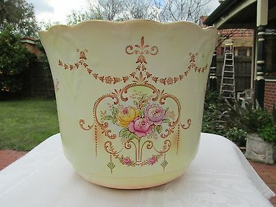 Large Antique Crown Ducal Jardiniere Plant Holder