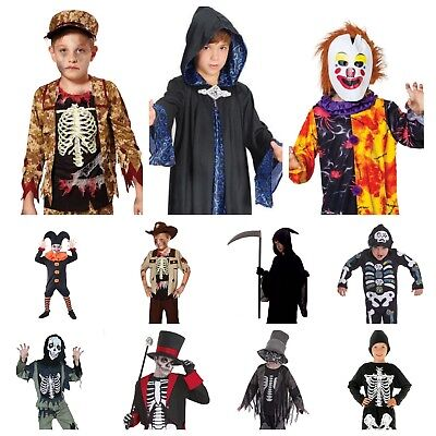 Boys Scary Zombie Vampire Skeleton Ghost Devil Reaper 30+ Halloween Costumes