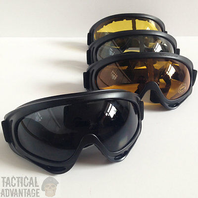 X400 Airsoft Tactical Goggles Glasses Face Eye Protection Mask Compatible UK