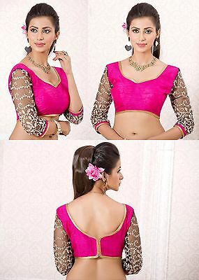 Indian Designer Blouse Ethnic Stitched Bollywood Short Sleeve Crop Top Choli4112