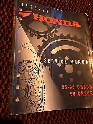 Genuine Honda CR80R 95-96 CR80B 96 Workshop Service Manual Book 61GBF01