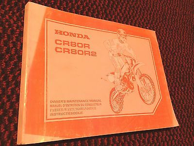 Genuine Honda CR80R CR80R2 1996 Owners Maintenance Manual Book 66GBF6400