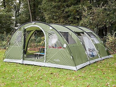Skandika Gotland 5 Person Tunnel Tent Camping Family Outdoor Green RRP £429.00