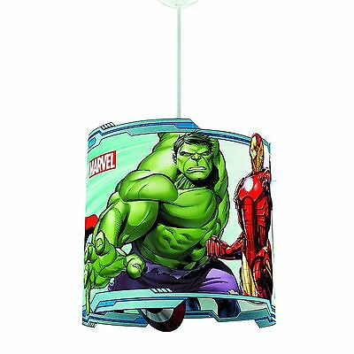 MARVEL AVENGERS ABAT-JOUR LAMPE SUSPENDU NEUF HULK CAPTAIN AMERICA by PHILIPS