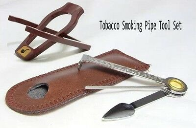 TOBACCO PIPE  3-in-1 CLEANING TOOL & STAND  SET AU stock