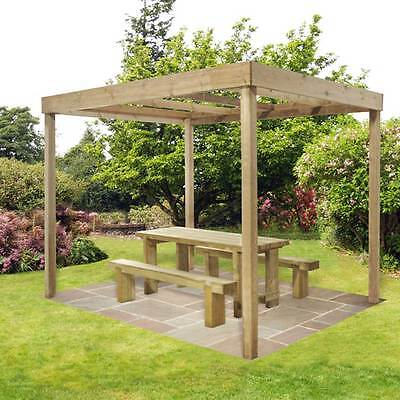 Dining Pergola Without Panels Garden Structure Outdoor Feature Frame