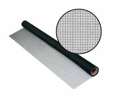 New 36 in. x 50 ft. Black UltraVue Window Door Outward Visibility Insect Screen