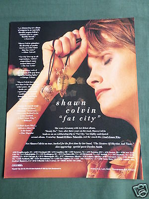 Shawn Colvin - Magazine Clipping / Cutting- 1 Page Advert