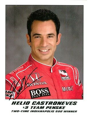 Helio Castroneves, Racing Driver, Signed Photo, COA, UACC RD 036