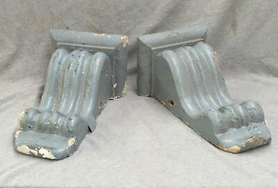 Pair Antique Wood Corbels Gingerbread Bookends Shabby Cottage Chic Vtg 1547-16