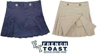 NEW French Toast Big Girls' Peached Twill Pleated Scooter Skort VARIETY
