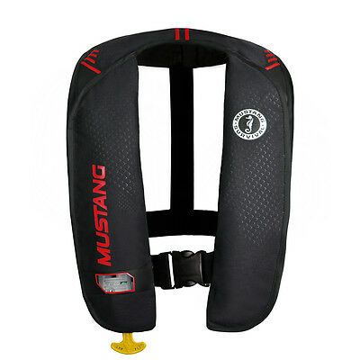 Mustang Mit 100 Inflatable Pfd Manual Black/Red [Md2014/02-Bk/Rd]