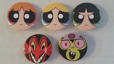 SDCC Comic Con 2016 Exclusive Power Puff Girls  Pin-Back Button