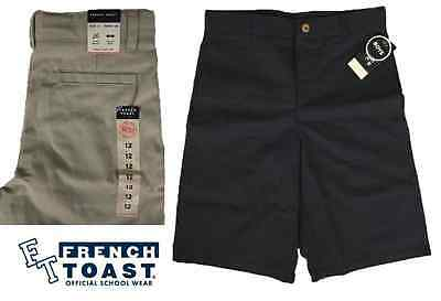 NEW French Toast Boy's Back to School Uniform Classic Fit Khaki Shorts VARIETY