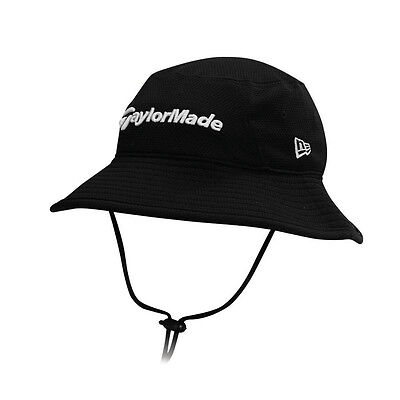 NEW TaylorMade New Era Traveler Black Fitted Bucket Hat/Cap S/M