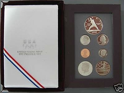 1992 Olympic Prestige Proof Coin Set United States MInt