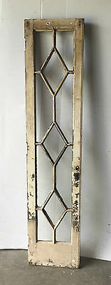Antique Window Diamond Casement Cabinet French Door Old Shabby Vtg Chic 1558-16