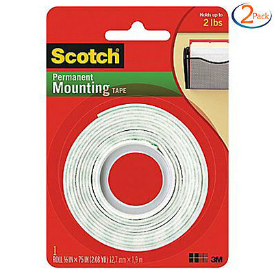 2 Pack - Scotch permanent Mounting tape 3M