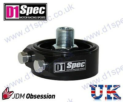D1 Spec Oil Filter Sandwich Plate Adapter Black Toyota Nisan Audi Volkswagen