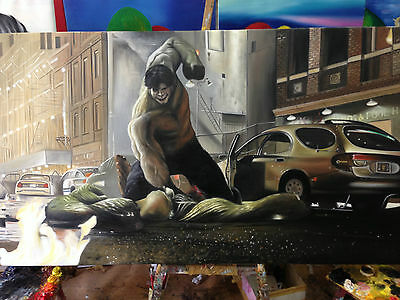 OIL Painting100% Hand Made Incredible Hulk MarvelL High Quality Canvas