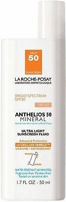 Anthelios SPF 50 Tinted Mineral Ultra-Light Sunscreen Fluid, La Roche, 1.7 oz
