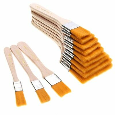 12Pcs Wooden Oil Painting Brush Artist Acrylic Watercolor Panit Art Supply Tool