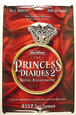 The PRINCESS DIARIES 2 - Original Advance Movie Poster - 2004  Rolled DS C9/C10