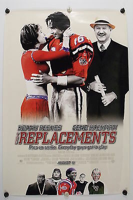 The REPLACEMENTS - Keanu Reeves - Original Movie Poster - 2000  Rolled DS C9/C10