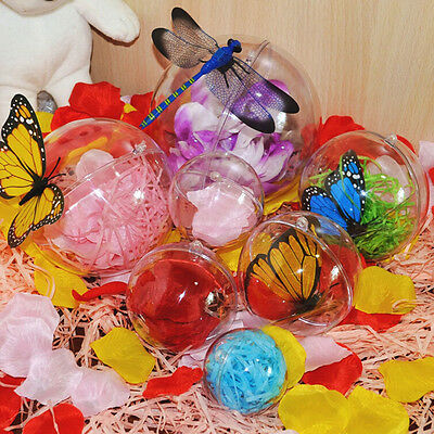 4/5/7/8cm Plastic Hanging Ball Baubles Xmas Party Home Christmas Decor Gift