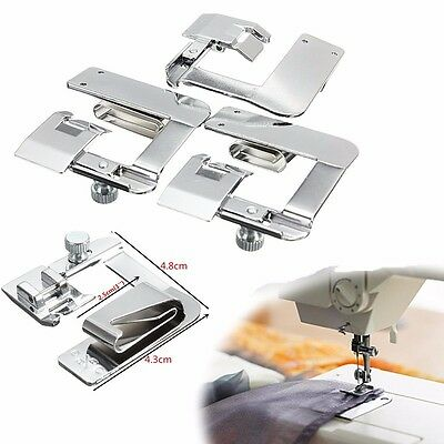 Snap On Adjustable Rolled Hemmer Foot Choose 1'',1/2'' or 3/4'' Sewing Machines