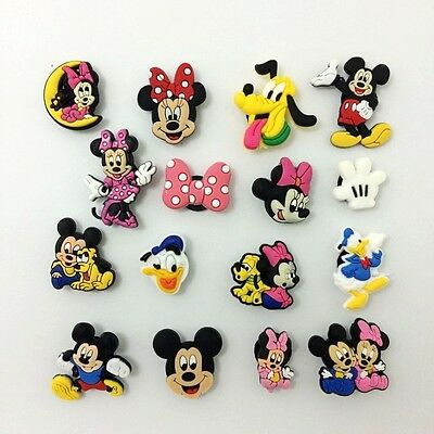 Mickey and Minnie Mouse Pluto Shoe Charms for Bracelets/Bands/Croc/Jibbitz 16pcs