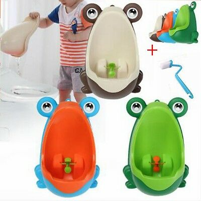 Kids Baby Toddler Boy Frog Potty Urinal Pee Toilet Travel Home Training Trainer