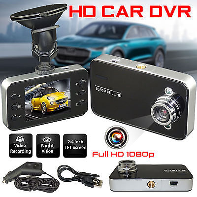 """New  2.4"""" LCD HD Night Vision CCTV In Car DVR Accident Camera Video Recorder UK"""