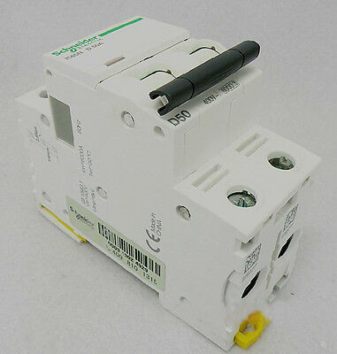 New Schneider small IC65N 2P D50A air circuit breaker switch