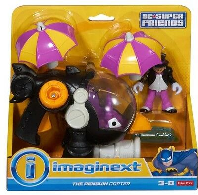 Imaginext Penguin Copter DC Super Friends Batman Fisher Price CFC02 Boy Gift NEW