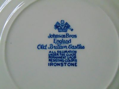 Johnson Brothers OLD BRITAIN CASTLES Blue Old Mark Bread Plate 6 1/4 Inches