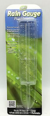 Dalen Rain Gauge 1.75x9.75x1 inch Clear Plastic Post Fence Ground Mount New