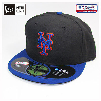 New York Mets MLB Authentic Collection New Era Alternate Road Cap, Hat