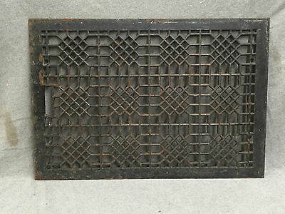 Antique Cast Iron Cold Air Return Heat Grate Waffle Vent Old 16x24 1566-16