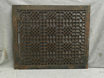 Antique Cast Iron Cold Air Return Heat Grate Waffle Vent Old 20x24 1568-16