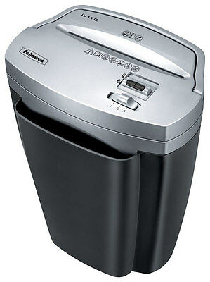 Fellowes - Powershred W-11C 11-Sheet Crosscut Shredder - Black/Silver