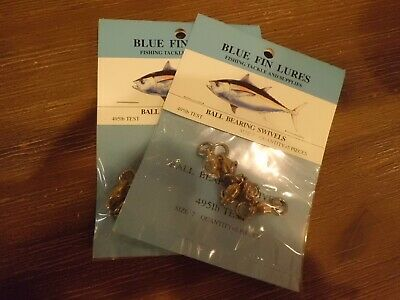 Blue Fin Lures Size 7 Nickel Ball Bearing Swivels w// Solid Rings 5 495lb test